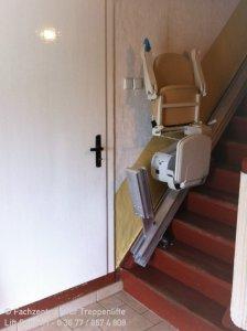 Isserstedt bei Jena - eleganter Sitzlift mit Klappschiene