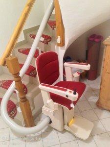 Sitzlift Vermeer von Handicare für kurvige Treppen - in Schmalkalden
