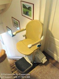 Sitzlift Handicare 950 plus für gerade Treppen im Innenbereich in Sankt Kilian bei Schleusingen und Suhl